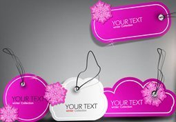 Set of bubbles stickers labels and tags