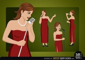 Female Singer Cartoon Character