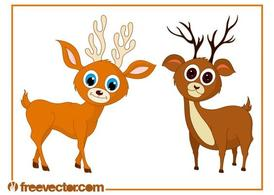 Cute Cartoon Deer