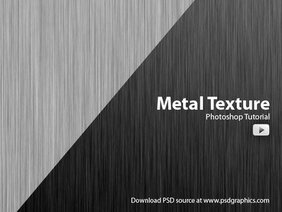 Make metal texture in Photoshop, video tutorial
