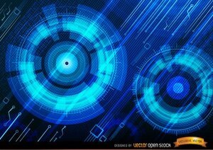 Technologic blue background