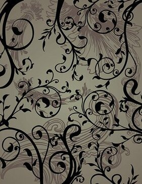 Background of black and white fashion pattern vector materia