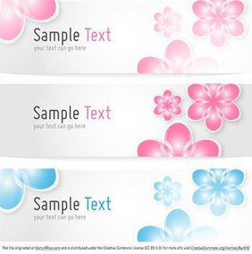 Floral Banners Vector sjabloon