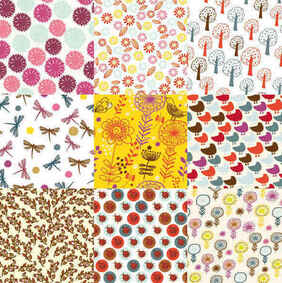 flowers patterns background pack