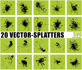 Free Vector Splatters SVG
