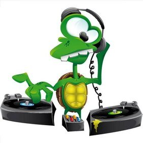 Vector Turtle-DJ illustration