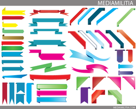 3D Elements - Free Vector Banners & Ribbons