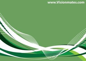 Green Abstract Background Curves
