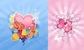 2 exquisite heart-shaped pattern
