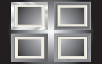 Flat Gray Window Frame Pack