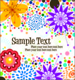 Simplistic Funky Floral Background Template