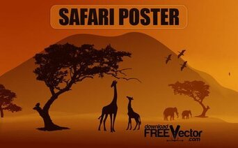 Gratis Vector Safari Poster