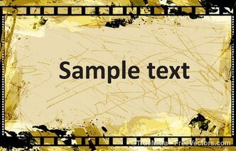 Grunge Frame Filmstrip Background