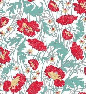 Hand-painted flower pattern background