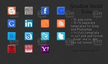 Gradient Social Icon Pack