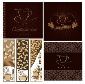 Vector cafe menu covers