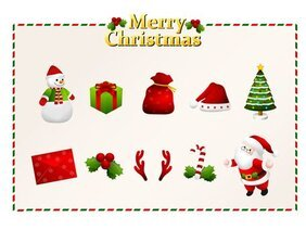 Vector elements of the Christmas icon