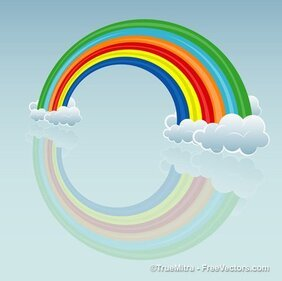 Cartoon Rainbow Cloud