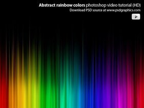 Abstract rainbow colors Photoshop video tutorial (HD)