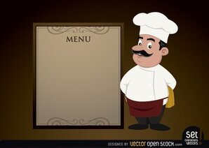 Menu template with Chef