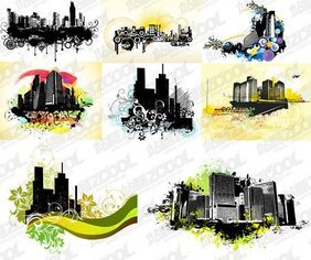 8 the trend of urban architectural theme illustrator