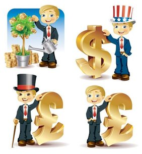 Vector illustration of financial