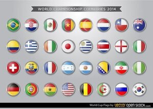 Brasilien 2014 World Cup flaggor