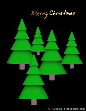 Christmas Trees Vectors