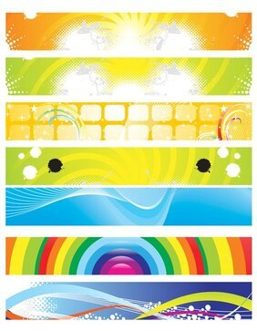 Vector pretty colorful background