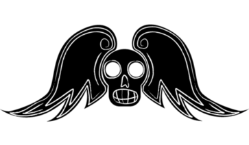 Gratis Winged Skull Vector kunst