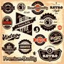 Retro vintage labels collection