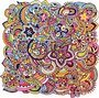 Hand drawn zentangle abstract background ornament