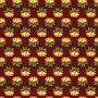 Seamless pattern of Christmas bells with green leaves