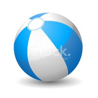 Beach,Ball,White,Blue,Vacat...