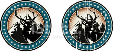 Deer,Hunting,Sign,Insignia,...