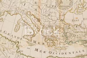 Map,Old,Cartography,Italy,G...
