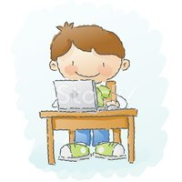 Cartoon,Computer,Child,Hom...