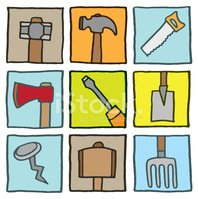 Hammer,Hand Saw,Square,Prin...