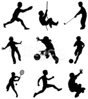 Child,Sport,Silhouette,Play...