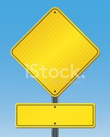 Road Sign,Yellow,Blank,Refl...