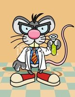 Rat,Laboratory,Cartoon,Test...