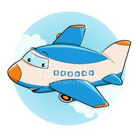 Airplane,Cartoon,Transporta...