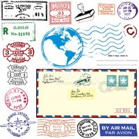 Mail,Postage Stamp,Air Mail...