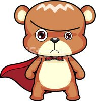 Bear,Cartoon,Superhero,Anim...