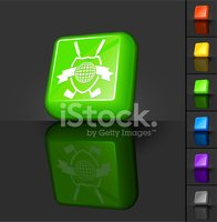 golf club insignia 3D button design