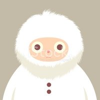Inuit,Fur,Button,Fluffy,Whi...