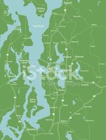 Map,Puget Sound,Washington ...