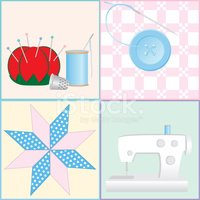 Quilt,Sewing,Button,Sewing ...