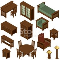 Furniture,Isometric,Bed,Tab...