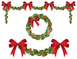 Wreath,Garland,Christmas,Ho...